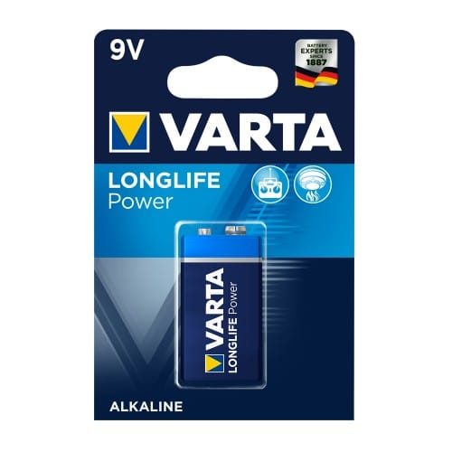 9V Varta LongLife Power - Alkaline